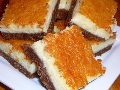 Vino Cotto Cheesecake Bars  Recipe and photo by Montillo Italian Foods, copyright December 17, 2009