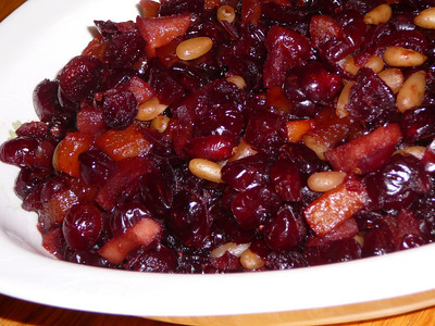 Vino Cotto Cranberry Fruit Conserve  Recipe and photo by Montillo Italian Foods, copyright October 28, 2009